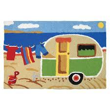 camping at the beach jellybean rug