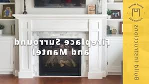 photo 5 of 10 how to build a fireplace surround and mantel superb mdf fireplace mantel 5