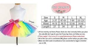 Handmade Skirt Size Chart New Fluffy Handmade Rainbow Tutu Skirt Colorful Party Girl Skirt Dance Skirt Baby Girl Clothes Kids Clothes Birthday Gift