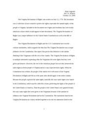 ap us history essay va declaration of rights mark angelini ap  ap us history essay va declaration of rights mark angelini ap u s history the virginia declaration of rights was written on the document was a
