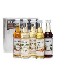 monin flavoured coffee syrups 5x mini pack