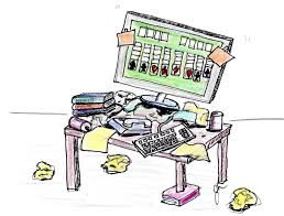 messy desk clipart. Contemporary Messy Messy Office Desk Clipart Cluttered Kidg Intended L