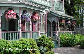 front garden ideas victorian home. victorian porch with colorful hanging baskets front garden ideas home e