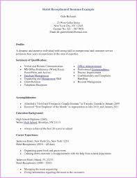 Resume Templates For Front Desk Receptionist Inspirational Medical ...