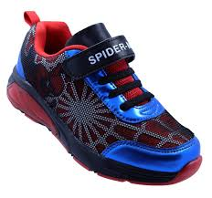 Spiderman Light Up Shoes Size 13 Spider Man Lighted Athletic Shoes