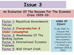essays to learn but only to write in the exam ppt  an evaluation of the reasons for the economic crisis 1929 33
