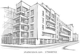 architecture building drawing. Simple Drawing Architecture Sketch Drawing Of BuildingCity To Architecture Building Shutterstock