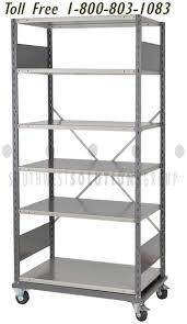rolling steel utility trolley storage features specific to the portable industrial metal shelving