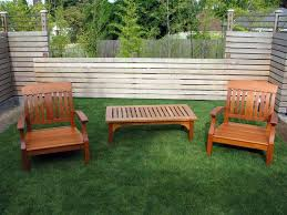 wooden outdoor furniture image