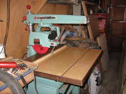 dewalt 925 radial arm saw. comments: post resto before first cut. drop leaf up source: myself dewalt 925 radial arm saw l