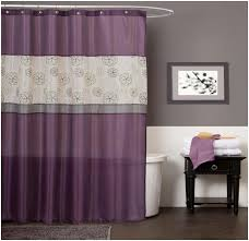 purple and silver shower curtain. Purple Bathroom Curtains Ideas With Nice Wooden Flooring And Silver Shower Curtain E
