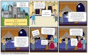 romeo and juliet act scene storyboard storyboard