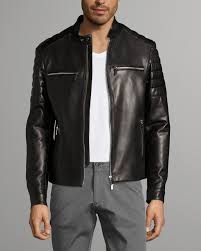 norwyn mercedes benz leather jacket black boss