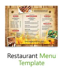 free food menu templates free menu templates blank restaurant samples for word