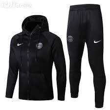 2019 winter psg coat training football soccer black