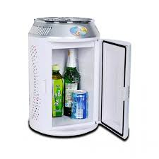 office mini refrigerator. 11 liters can shape mini fridge for home office and car white refrigerator
