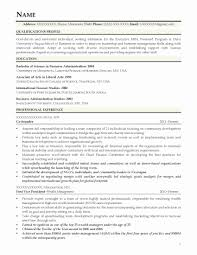 Nice Columbia Business School Resume Sample Images Example