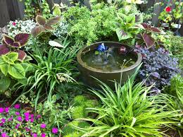 Small Picture Shady Garden Ideas Partial Shade Garden Nook With Water Feature