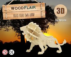 africa 3d wooden puzzle set of 3
