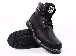 black genuine leather walking boots to zoom