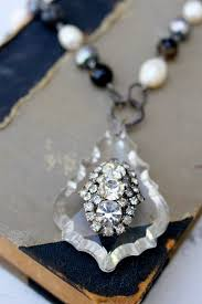 vintage chandelier crystal and rhinestone necklace