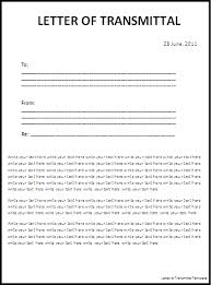 Letters Of Transmittal Letter Of Transmittal Template Free Printable Ms Word Format