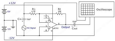 inverting amplifier using opamp experiment