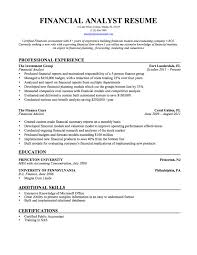 Financial Operations Analyst Resume Sample Fresh Financial Sample