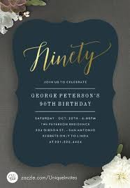 90th Birthday Party Invitations With Photo Invites Best Adult Images