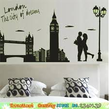 romantic bedroom wall decals. Wall Decal For Master Bedroom Romantic Lover Bridge City Night Sticker Couple Decals