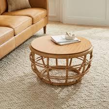 savannah rattan round coffee table