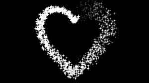 無料 動画素材 ハート キラキラ 白 黒