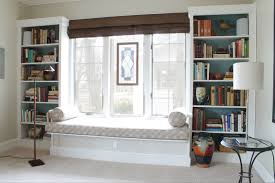 Pictures Of Built In Bookcases Built In Window Seat With Bookcases Chicago Redesign Chicago