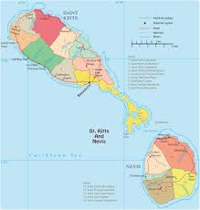 political map of saint kitts and nevis basseterre