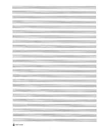 Star Large Score Manuscript Paper Pad 24 Staves Presto