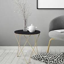 round tea table sofa end side wood