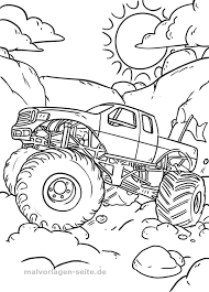 Kleurplaat Monstertruck Gratis Download