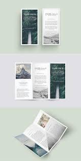 J U N I P E R Trifold Brochure Graphic Design Brochure