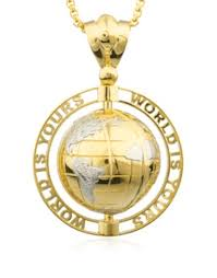 world is yours rotating globe pendant