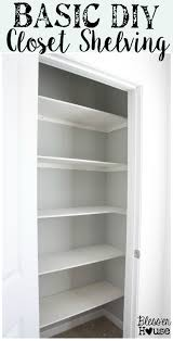 Building closet shelves Linen Closet To Ring In The New Year The Number One Todo On My Resolutions List Was To Get Our Closets Organized Starting With Exhibit A Basic Diy Closet Shelving Blesser House Basic Diy Closet Shelving