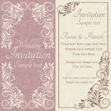 Baroque Wedding Invitations Antique Baroque Wedding Invitation Pink On Beige Background Royalty