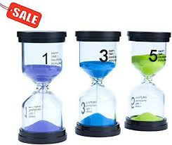 Set Timer Five Minutes Generic Lonnom Sand Timer Set 3 Pack Colorful Sandglass Hourglass