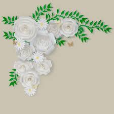 White Paper Flower Wall 12 Pc Combo White Rose Paper Flower Backdrop Wall Decor Set 3d Premade