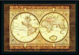framed wall maps large framed world maps map art print unframed at pertaining to wall decor framed wall maps