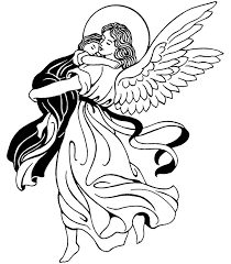 Small Picture Guardian Angel Catholic Coloring Page Feast of the Guardian