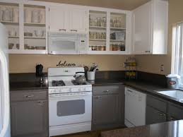 Diy Painting Kitchen Cabinets Painting Kitchen Cabinets Grey And White How Diy Paint Black