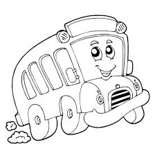 Bus Animato Disegno Da Colorare Per Bambini Piccoli Disegni Da
