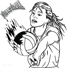 Volleyball Color Pages Free Printable Sports Coloring Pages Free Printable Sports Coloring