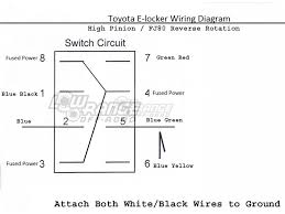 toyota electric e locker switches high pinion fj80 reverse rotation toyota elocker switch diagram