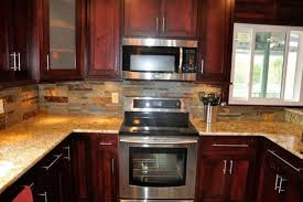 Kitchen Counter And Backsplash Ideas Enchanting Backsplash Ideas For Cherry Cabinets Home Pinterest Kitchen